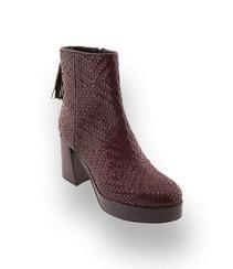 pons quintana damenschuhe boots mit flechtung in rot